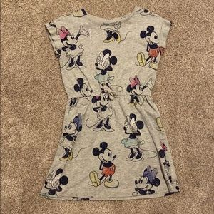 Little Girls Casual Minnie and Mickey Mouse dress.